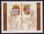 stamp commemorating Treaty of Alcanices