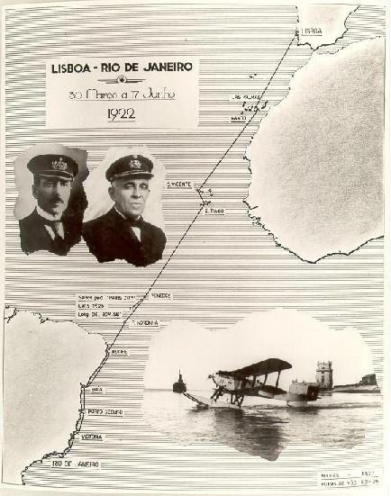 1922, First Air Crossing of the Atlantic